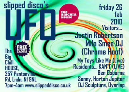 Justine Robertson, Milo Smee (Chrome Hoof), KAN'T, My Toys Like Me, Ben Osborne, Horton Jupiter, DJ Sculpture, Overlap and more